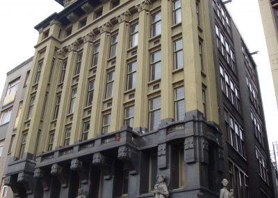 Damrak, renovatie monumentale panden, Amsterdam